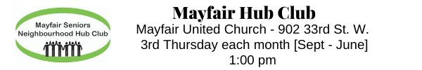 Mayfair Seniors Neighbourhood Hub Club